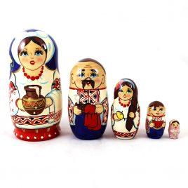 Матрёшка 5-х девочка украинка 12.5 см