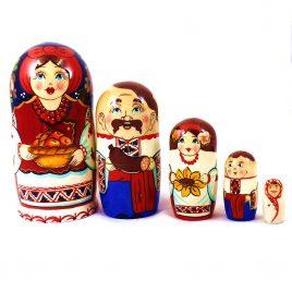 Матрёшка 5-х девочка украинка 14 см