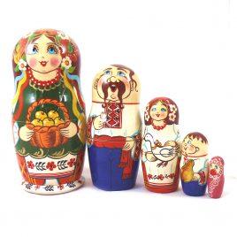 Матрёшка 5-х девочка украинка 16 см