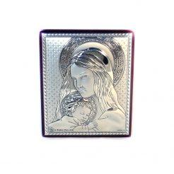 Икона Св.мария с младенцем на деревянной основе 262