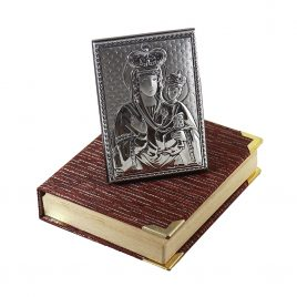 Икона Зарваницкая на деревянной основе 1017