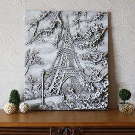 Панно объёмное Париж светящееся