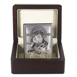 Икона Владимирская в деревянной шкатулке
