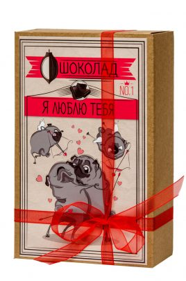 "Шоколад ""Крафт-Мопс Я люблю тебя"" Гранд Презент 026"
