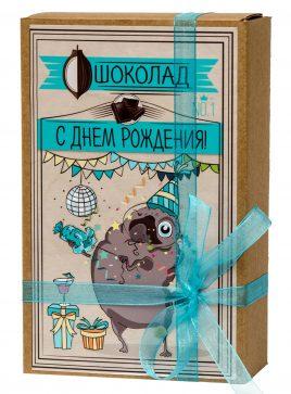 """Шоколад """"Крафт-Мопс С  днём рождения"""" 029"""