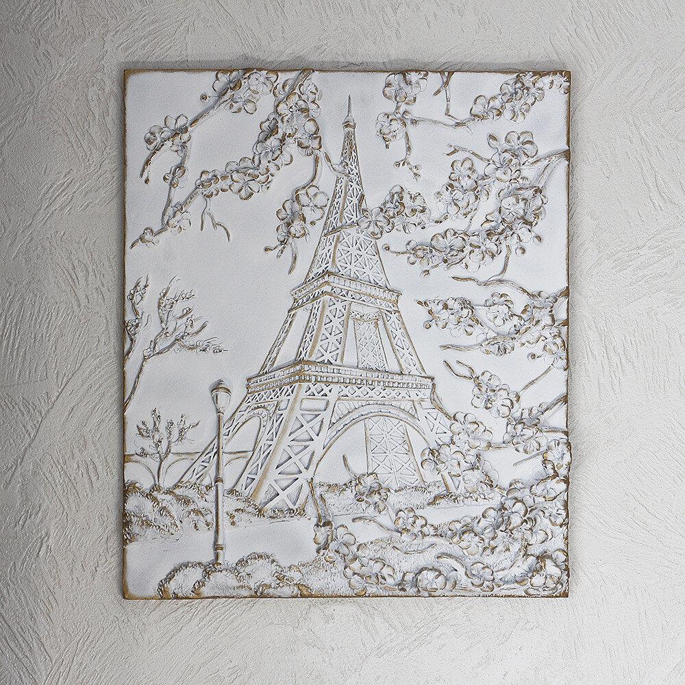 Картина объемная Париж КР 917 золото