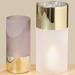 Набор ваз 2х цветное лакированное стекло h20-25см 1008652