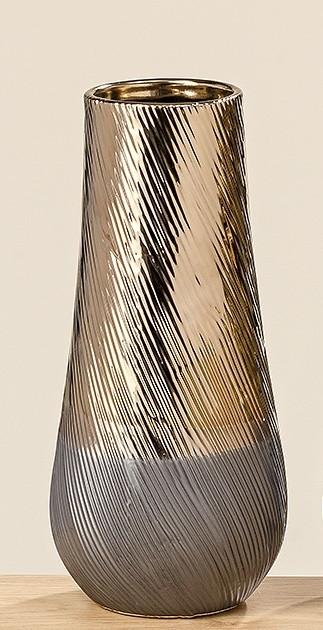 Ваза Килиан коричневая керамика h28 d13см 1009750