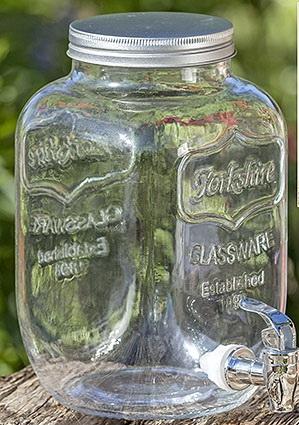 Стеклянная ёмкость с краником h26см 4 литра 1001927