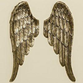 Настенный декор Крылья золото пара h41см 1007631
