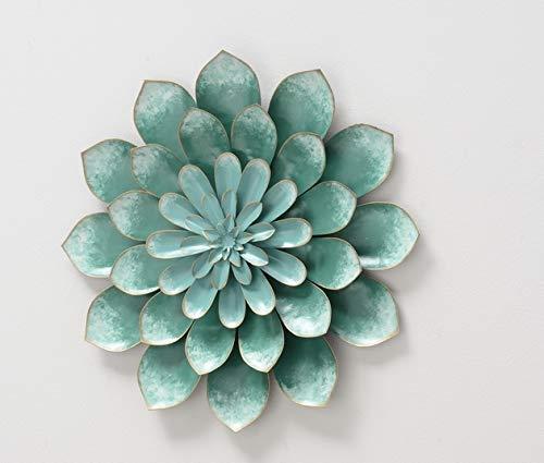 Настенный декор цветок зеленый d38см 1013109