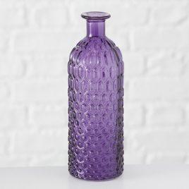Ваза Джесси фиолетовое стекло h25 d8.5см 1013528-1 фиолетовый
