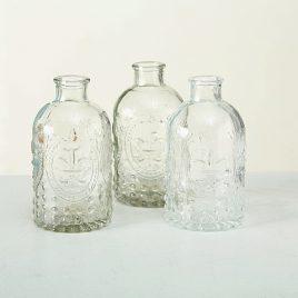 Набор 3х ваз прозрачное стекло h12см 4019400