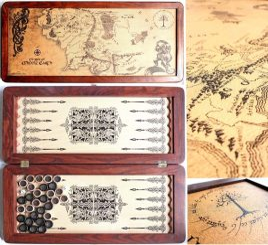 Нарды средние «Легенда» Толкиен Карта 31142-75