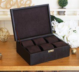 Шкатулка для хранения  часов 22*17,5*7,5 603410 коричневая