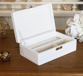 Шкатулка для ювелирных украшений 17,8*11*6 603430 белая