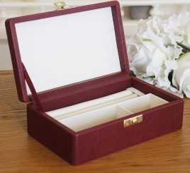 Шкатулка для ювелирных украшений 17,8*11*6 603430 бордовая