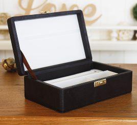 Шкатулка для хранения ювелирных украшений 17,8*11*6 603430 коричневая