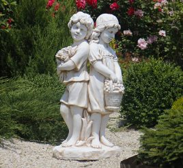 Садовая фигура Романтика 90х45х30 см ССП12215 Крем