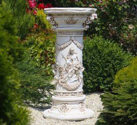 Садовая скульптура Колонна круглая с ангелами 81х40х40 см ССК00003