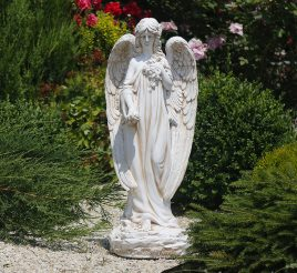 Садовая фигура Ангел молящийся 74х32х28 см ССП12008 Крем