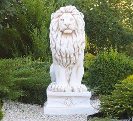 Садовая фигура Лев 101х45х57 см ССП00002 Крем