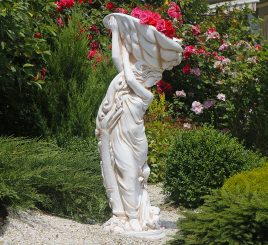 Садовая скульптура Богиня моря 122х48х45 см ССП00001 Крем