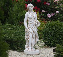 Садовая фигура Богиня Весны 83х23х27 см ССП12037 Крем