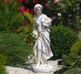 Садовая фигура Богиня Осени 82х24х26 см ССП12039 Крем