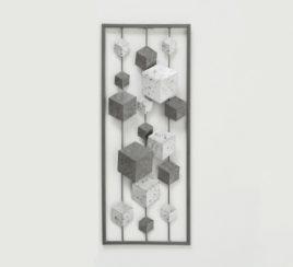Настенный декор h61см серый металл 1015898