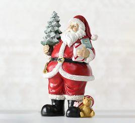 Новогодняя статуэтка Санта полистоун h22см 1016545