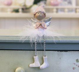Декоративная новогодняя игрушка молящийся Ангел h7см 1016569-1 молящийся