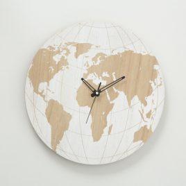 Настенные часы Карта мира МДФ d39см 1018120