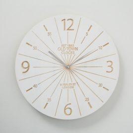 Настенные часы дерево белый L38см 1018516
