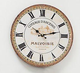 Настенные часы МДФ серый d34см 1021690