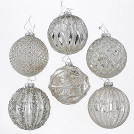 Набор новогодних шаров из 6-ти шт шампань стекло d10см 7588800