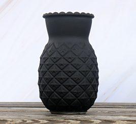 Ваза Ананас лакированное черное стекло h20см 1011535-2 черная