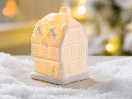 Led ночник домик фермерский белая керамика d10см 1008478-2 трех этаж