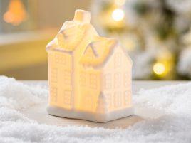 Led ночник домик английский белая керамика d10см 1008478-3 два яруса