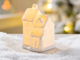 Led ночник домик классический белая керамика d10см 1008478-4 три ярус