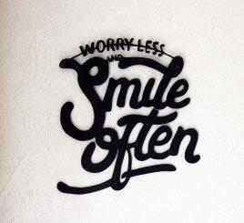 Геометрический декор smile often дерево 50 cм черный 82