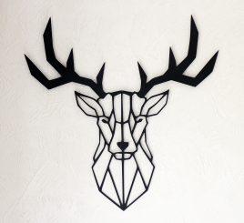 Голова оленя декор на стену дерево 75 см чёрный 39