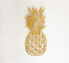 Настенная фигура золотой ананас дерево 50 см 55