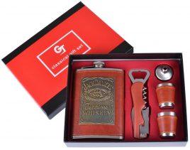 Подарочный набор с флягой Jack Daniels (Кожа) 5х1 TZ-30