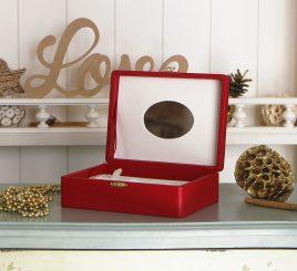 Шкатулка для ювелирных украшений 18*13*5,8 603432 красная