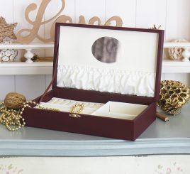 Шкатулка для ювелирных украшений 25*15*5,6 603411 марсала