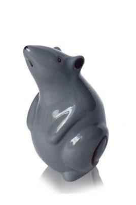 Статуэтка Мышка серая керамика 9.5*8*14 см 2050-14 серый