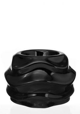 Подсвечник чёрная керамика 11*11*8 см 0006 чёрный