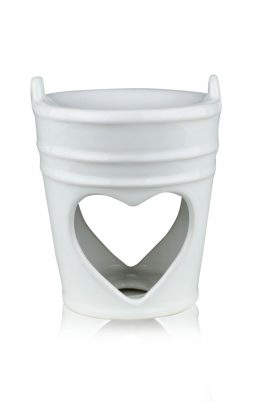 Аромалампа белая керамика 9.5*9.5*11.5 см 2414-11,5 белый