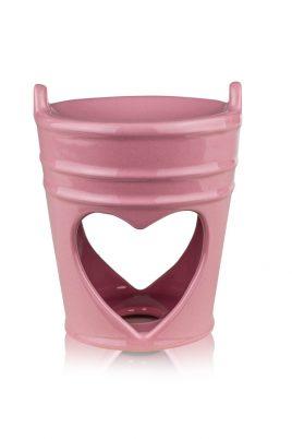 Аромалампа розовая керамика 9.5*9.5*11.5 см 2414-11,5